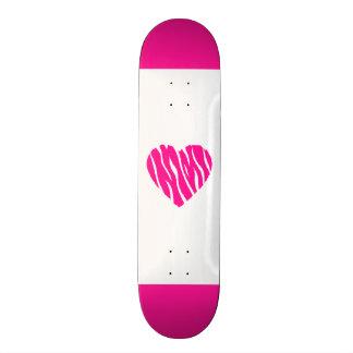 Hot Pink Wild Heart Skate Deck