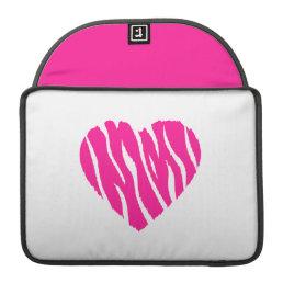 Hot Pink Wild Heart Sleeve For MacBook Pro