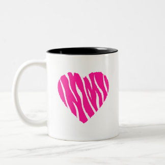 Hot Pink Wild Heart Two-Tone Coffee Mug