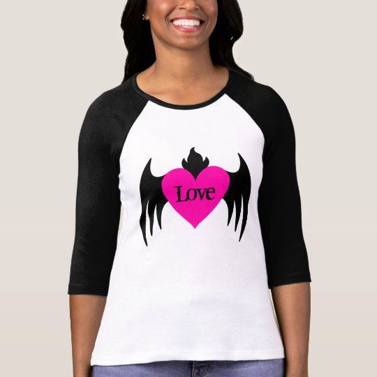Hot pink winged heart T-Shirt