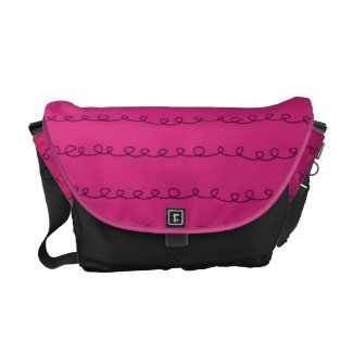 Hot Pink with Black Scribbles Travel Bag