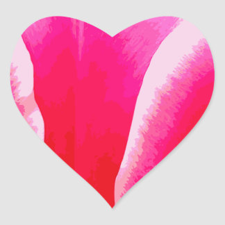 Hot Pink with White Tint Tulip Heart Sticker