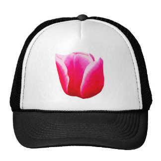 Hot Pink with White Tint Tulip Trucker Hat