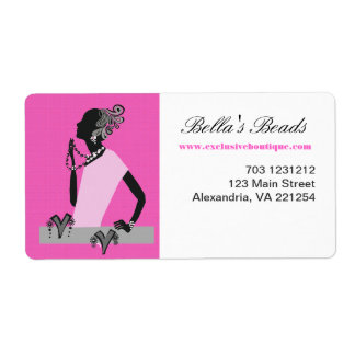Hot Pink Woman Jewelry Fashion Model Label
