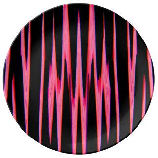 HOT PINK wrap (an abstract art design) ~ Porcelain Plate