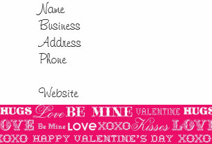 Business valentines day cards zazzle hot pink xoxo love be mine happy valentines day note card colourmoves