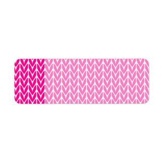 Hot Pink Yarn Style Chevrons Knit Label