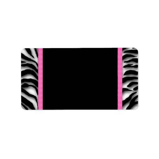 Hot Pink Zebra Address Labels   Zazzle