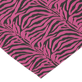 Hot Pink Zebra Animal Print Table Runner