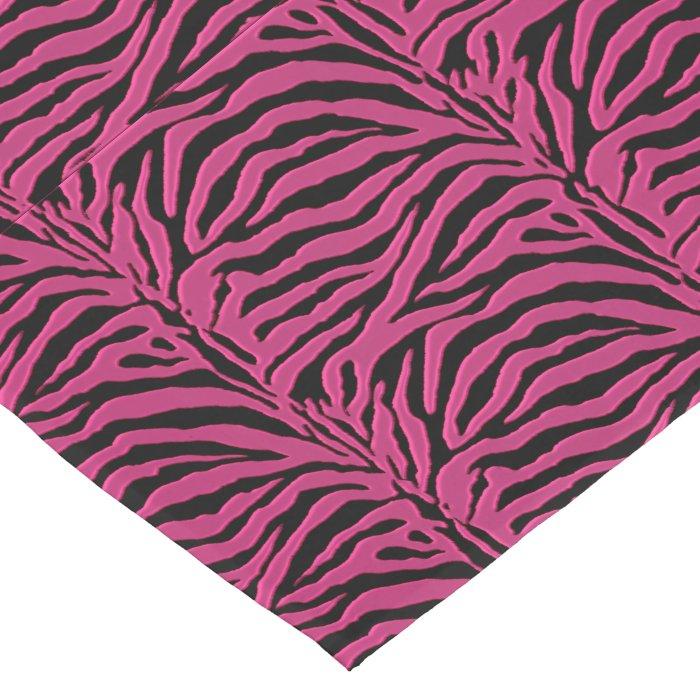 Hot pink zebra animal print table runner zazzle for Css table zebra design
