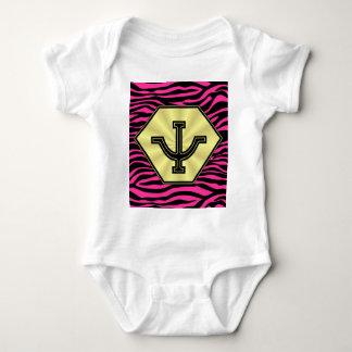 HOT PINK ZEBRA GOLD PSI CORP BABY BODYSUIT