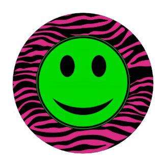 HOT PINK ZEBRA GREEN SMILEY POKER CHIPS SET