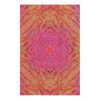 Hot Pink Zebra Pattern Cork Paper Prints