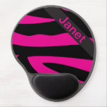 Hot Pink Zebra Personalize Mouse Pad Gel Mouse Pads