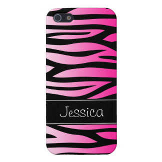 Hot Pink Zebra Personalized iPhone SE/5/5s Cover