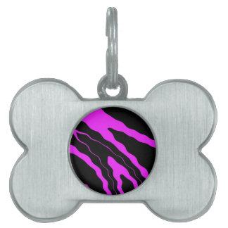 Hot Pink Zebra Pet Name Tag