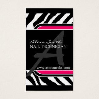 Hot Pink Zebra Print  Business Card
