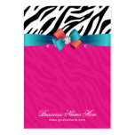 Hot Pink Zebra Print Earring Display Cards Large Business Card