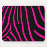 Hot Pink Zebra Print Mouse Pads