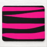 Hot pink zebra print mousepads