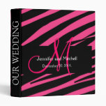 Hot Pink Zebra Print Wedding Planner Binder