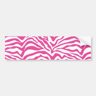 Hot Pink Zebra Print Wild Animal Stripes Novelty Bumper Sticker