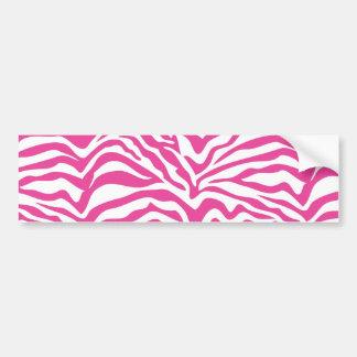 Hot Pink Zebra Print Wild Animal Stripes Novelty Car Bumper Sticker