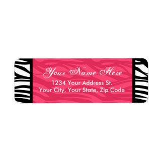 Hot Pink Zebra Return Address Labels