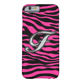 HOT PINK ZEBRA SILVER F BARELY THERE iPhone 6 CASE