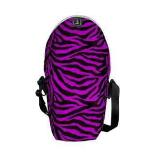 Hot Pink  Zebra Skin Texture Background Courier Bag