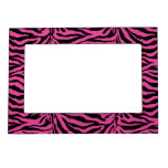 Hot Pink  Zebra Skin Texture Background Photo Frame Magnet