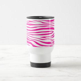 Hot Pink Zebra stripe pattern animal print 15 Oz Stainless Steel Travel Mug