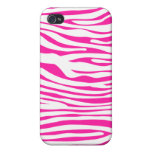 Hot Pink Zebra stripe pattern animal print Case For iPhone 4