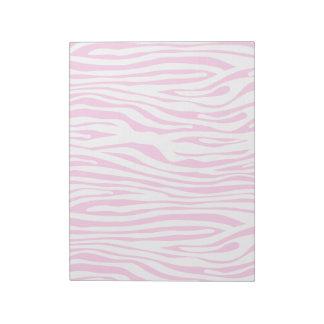 Hot Pink Zebra stripe pattern animal print Notepads