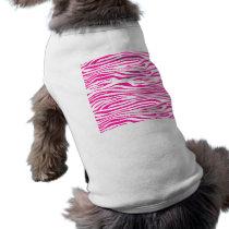 Hot Pink Zebra stripe pattern animal print Shirt