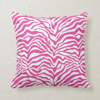 Hot Pink Zebra Stripe Pillow