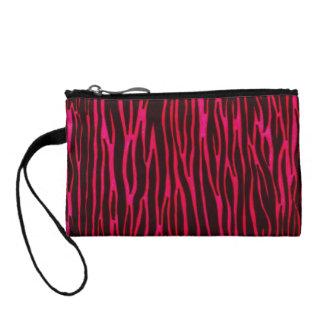 Hot pink zebra stripe print purse