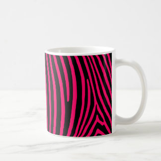 Hot Pink Zebra Stripes Classic White Coffee Mug