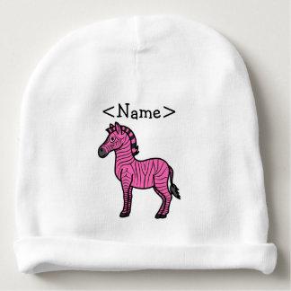 Hot Pink Zebra with Black Stripes Baby Beanie