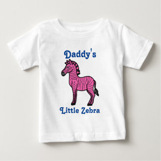 Hot Pink Zebra with Black Stripes Baby T-Shirt