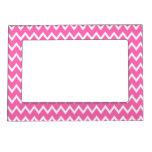 Hot Pink Zigzag Pattern Magnetic Frame