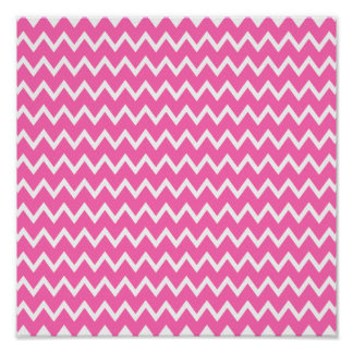 Hot Pink Zigzag Pattern Poster