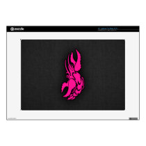 Hot Pink Zodiac Cancer Sign Laptop Decals
