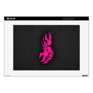 Hot Pink Zodiac Cancer Sign Laptop Decals