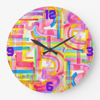 Hot Pipes Large Clock
