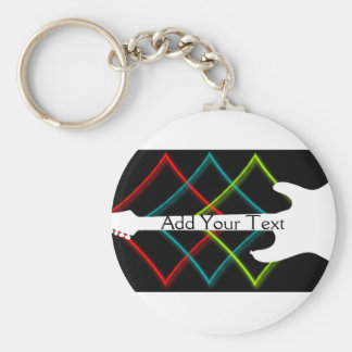 Hot Pop Color Guitar Business Keychain