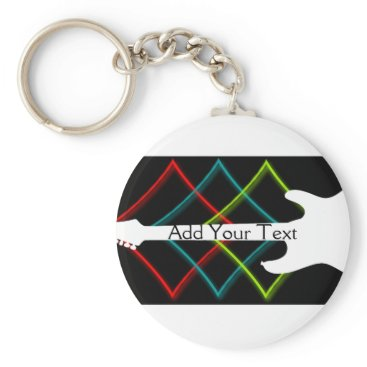 Professional Business Hot Pop Color Guitar Business Keychain