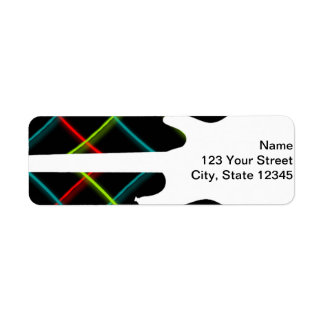 Hot Pop Color Guitar Business Custom Return Address Labels