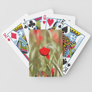 Hot Poppy Bicycle Playing Cards