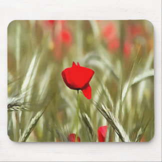 Hot Poppy Mouse Pad